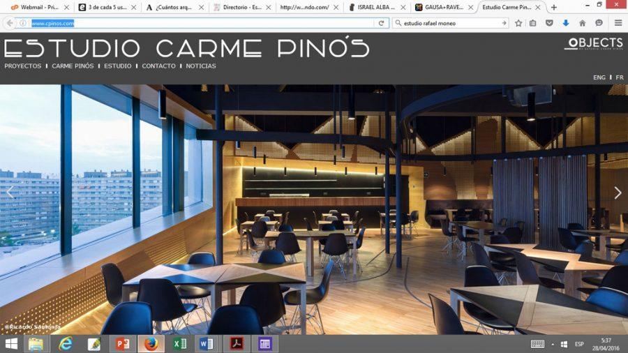 Comentamos web del estudio de arquitectura carme pin s for Estudio de arquitectura en ingles