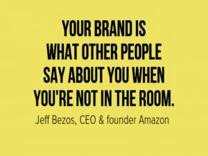 Frase de Jeff Bezos sobre Branding