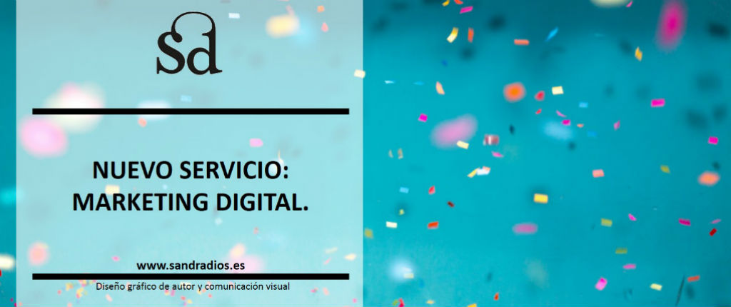 Nuevo servicio Marketing Digital - confetti